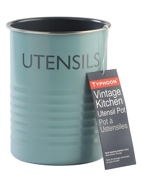 Typhoon Vintage Kitchen Blue Utensil Pot