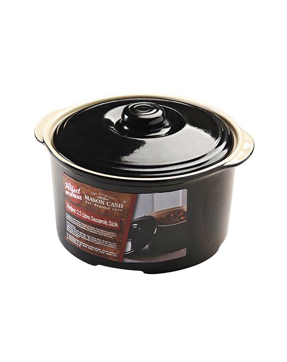 Mason Cash Perfect Black 2.5 Litre Casserole Dish