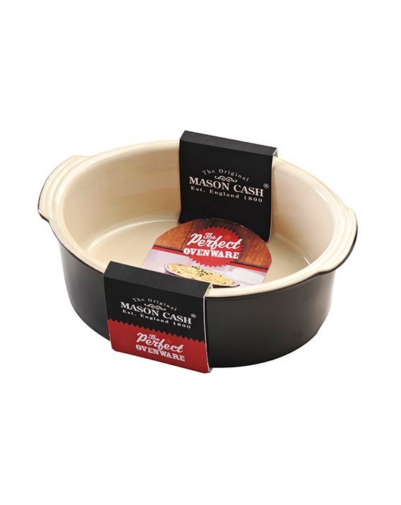 Mason Cash Perfect Black 22cm Oval Pie Dish