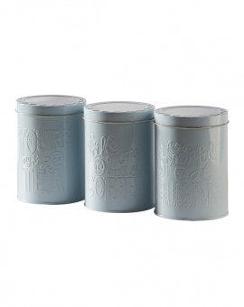 Mason Cash set of 3 Tea Coffee, Sugar, Tins