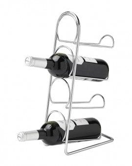 Hahn Pisa Wine Rack 4 Bottle Chrome