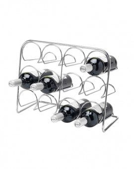 Hahn Pisa Wine Rack 12 Bottle Chrome