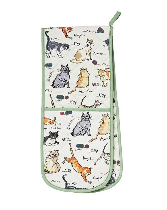 Ulster Weavers Madeleine Floyd Cats Double Oven Glove