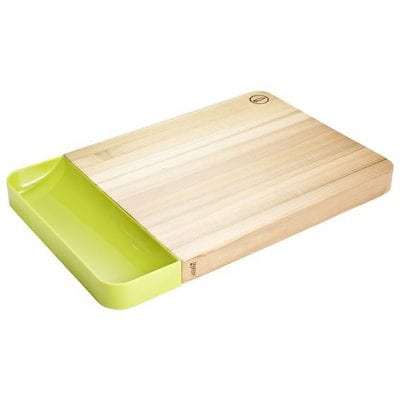 Nosh Board & Catcher, Tulipwood in Green