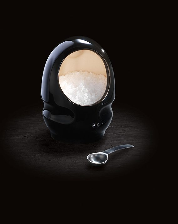 Cole & Mason Black Ceramic Salt Keeper