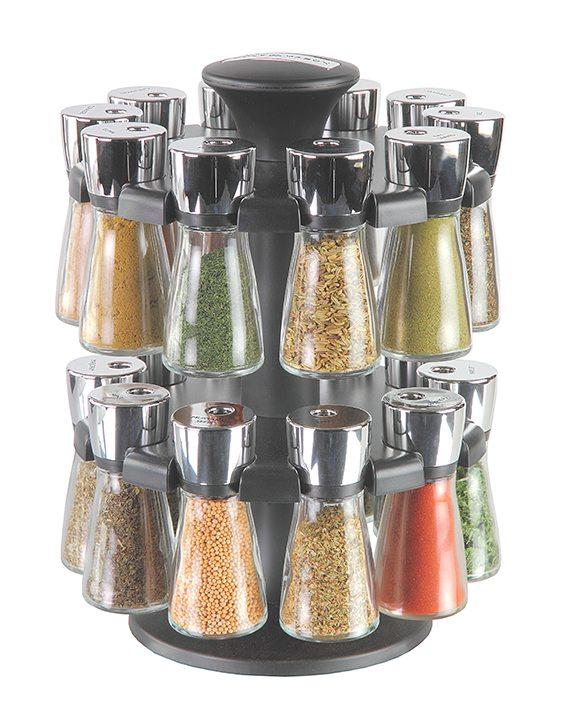 Cole & Mason Hudson Herb & Spice Rack 20 Jar Filled Carousel