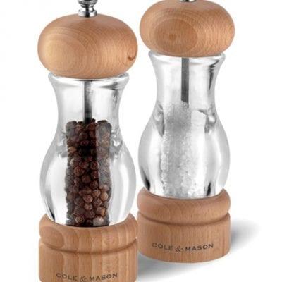 Cole & Mason Precision 105 Acrylic & Beech Salt & Pepper Mill Gift Set