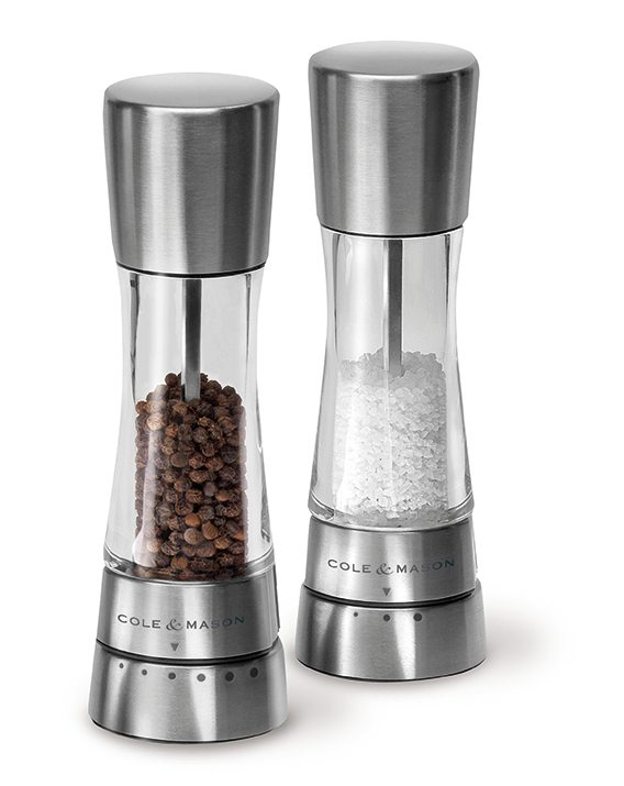Cole & Mason Gourmet Precision Derwent Acrylic and Stainless Steel Salt & Pepper Mill Gift Set