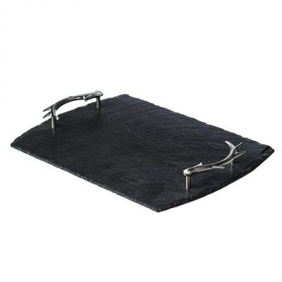 Just Slate Medium Slate Tray with Antler Handles