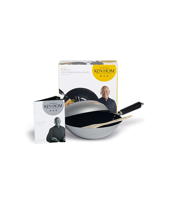 Ken Hom 31cm Non-Stick Silver Colour 4 Piece Wok Set