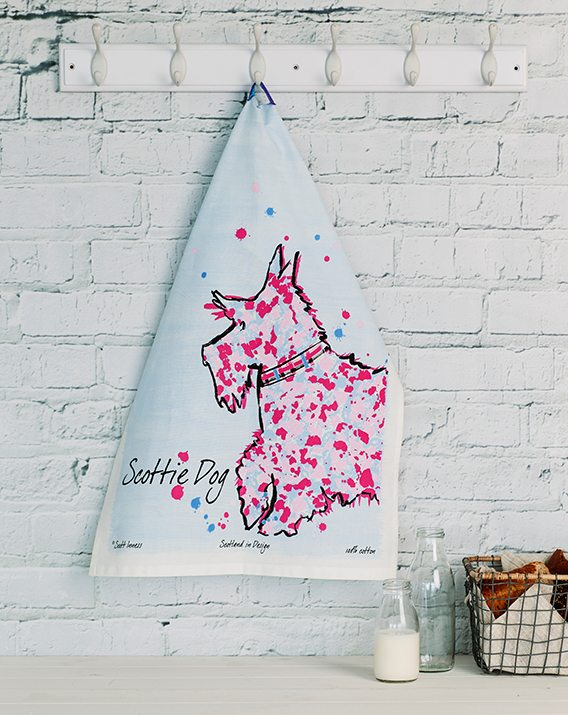 Scott Inness Scottie Dog Tea Towel