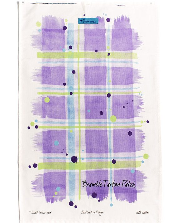 Scott Inness Bramble Tartan Tea Towel