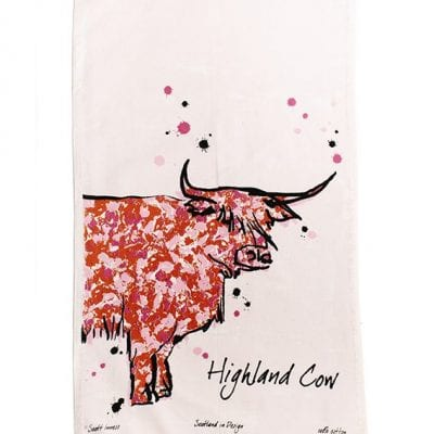 Scott Inness Highland Cow Tea Towel