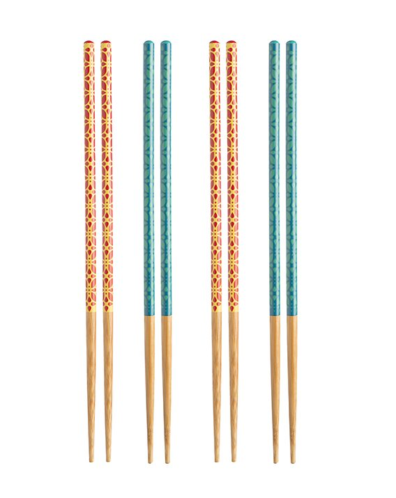 Typhoon Lotus Colour Chopsticks Set 4 1400.943