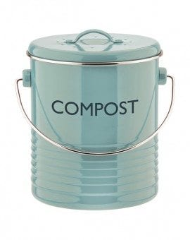 Typhoon Vintage Kitchen Blue Compost Caddy