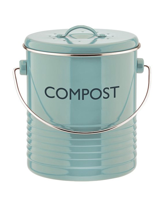 Typhoon Vintage Kitchen Blue Compost Caddy