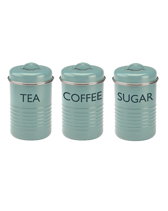 Typhoon Vintage Kitchen Blue Set Of 3 Storage1400.652